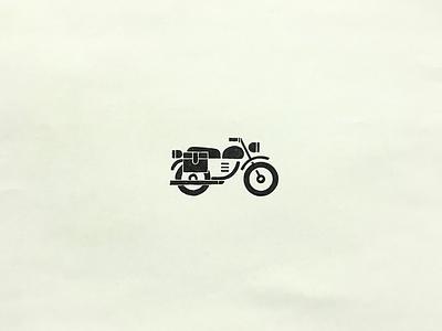 Motocycle meanimize illust graphic isotype icon pictogram motocycle