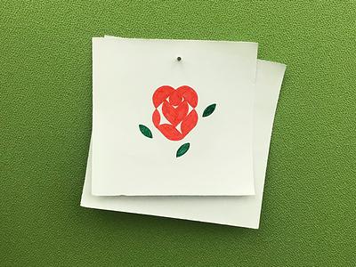 Rose icon logo isotype meanimize illustration graphic pictogram minimalism simplicity rose
