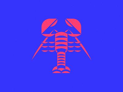 Crayfish icon logo isotype meanimize illustration graphic pictogram minimalism simplicity crayfish