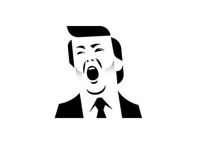Trump logo icon stencil meanimize illust graphic trump