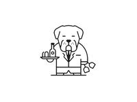 Mastiff waiter