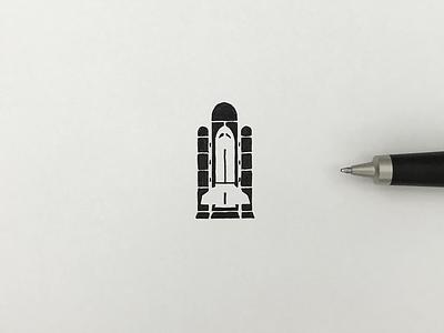 Spaceship drawing sketch artwork pictogram meanimize illust graphic logo spaceship