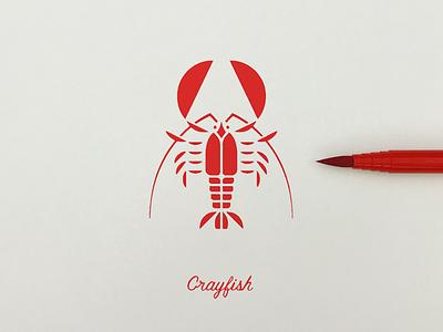 Crayfish doodle simplicity logo isotype pictogram icon illustration graphic meanimize crayfish