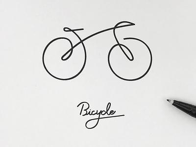 Bicycle illust minimalism simplicity logo pictogram icon illustration graphic meanimize