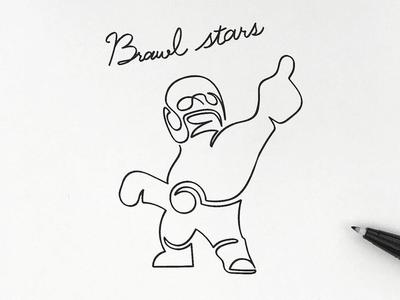 Brawl stars - El primo croquis simplicity illust linedrawing graphic doodle brawlstars
