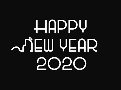 2020 Happy new year pictogram artwork minimalism meanimize simplicity branding logo illustration graphic happynewyear