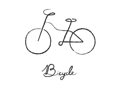 Bicycle linedrawing croquis doodle minimalism simplicity branding logo pictogram icon illustration meanimize graphic bicycle