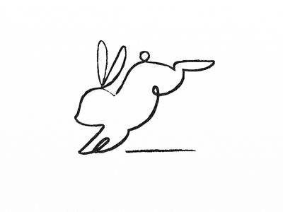 Rabbit branding symbol artwork linedrawing croquis doodle illust pictogram rabbit