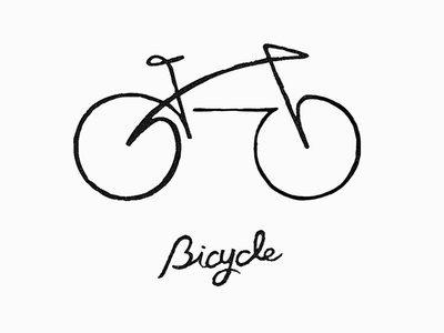 Bicycle 05 branding logoinspiration artwork sketch simplicity illust croquis doodle linedrawing bicycle