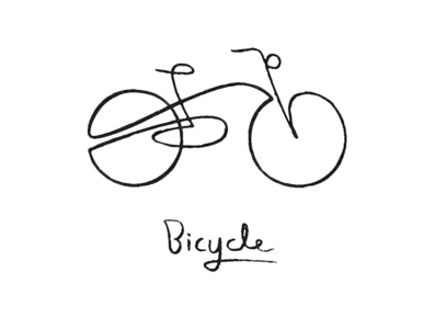 bicycle 06 isotype graphic artwork vector simplicity meanimize minimalism branding pictogram illustration bicycle