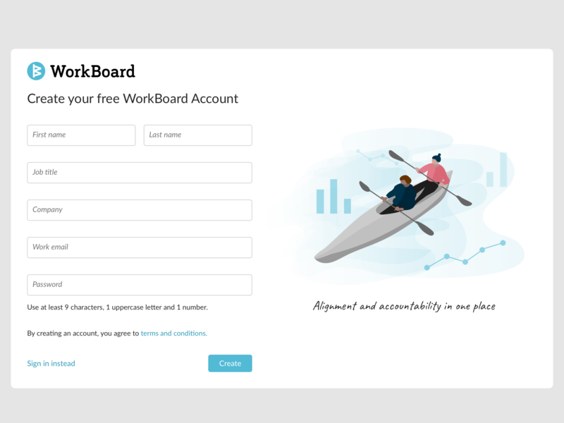 Registration Page + Illo vector modern clean ui minimal digital product illustration illustration