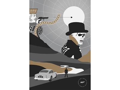 Daniel Craig Bond Montage Poster movie film poster montage no time to die spectre quantum of solace skyfall casino royale illustration 007 talenthouse daniel craig james bond