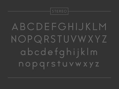 Stereo sans serif 1980 speaker stereo font typeface