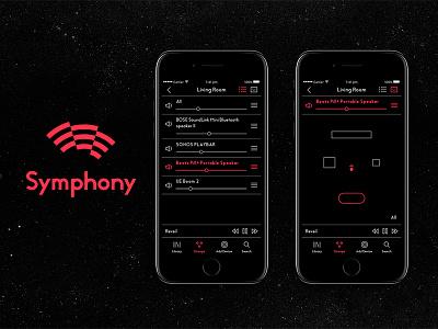 Symphony app bluetooth speaker wireless song music ui symphony