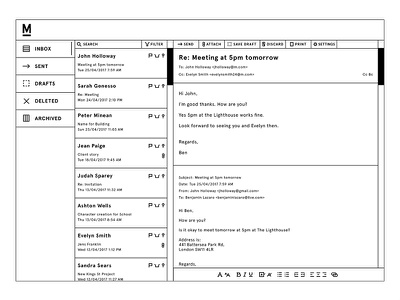 M Email m minimalism ui interface email