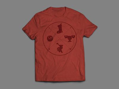 The Family Crest tshirt illustration logo christmasvacation