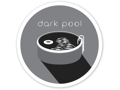 Dark Pool sticker logo monochrome illustration