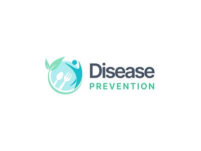Disease prevention logo. branding inter typography logo flat design vector minimal figma