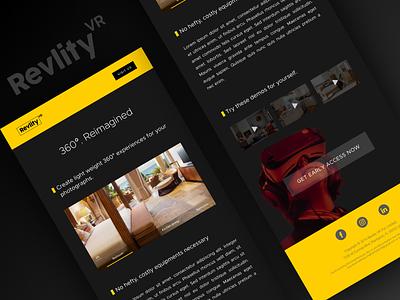 Revlity Newsletter Dribbble Shot startup webvr 360 360 degree virtual reality vr newsletter newsletter design design vector flat branding ux ui minimal figma
