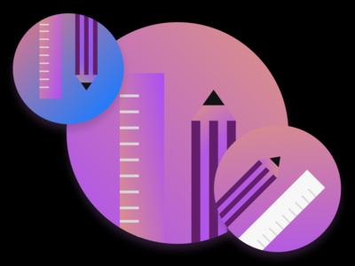 Design Iconography gradient gradient background icon illustration design vector minimal figma