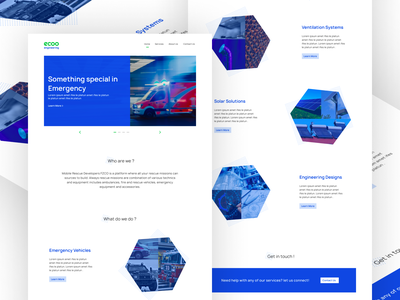ecoo engineering landing page logo branding ui website ux flat design vector minimal figma