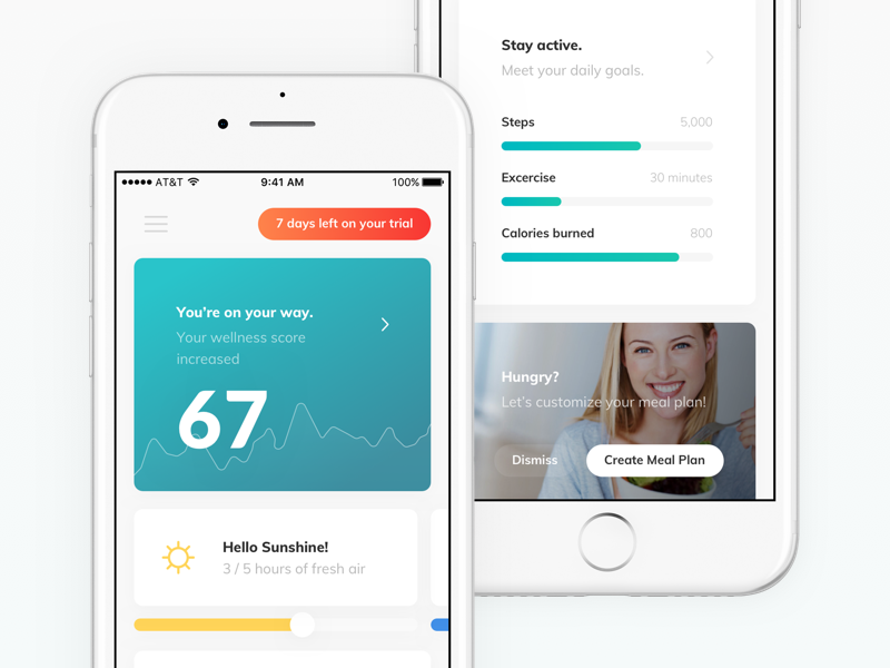 TNLC - iOS App ux upgrade ui tracker stats statistics score mobile layout ios health graph data fitness dashboad chart card app
