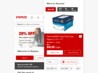 Staples.com - product discovery