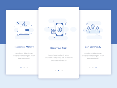Onboarding - Daily UI #023 welcome onboarding dailyui ui simple minimal flat illustrator card layout icons