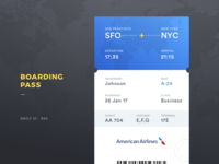 Boarding Pass Daily UI