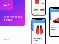 Nike mobile app screen_iphone X