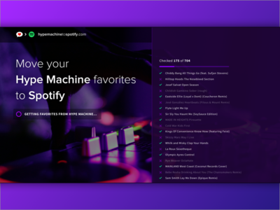 Hype Machine to Spotify