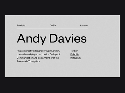 New Portfolio - Live 3d webgl transition portfolio website web design after effects layout interaction animation typography user-interface user-experience ui ux