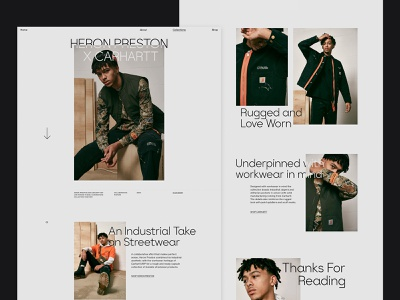 End. Digital Editorial - Collection Page web design ui ux user-experience user-interface layout typography design fashion website fashion website editorial digital editorial minimalism web clean