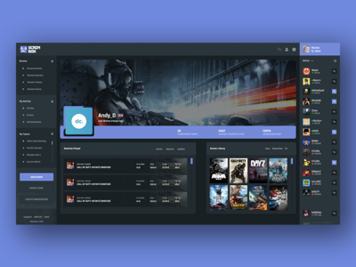ScrimboxApp - Profile Page