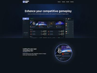 Scrimbox - Home page (Company Site)