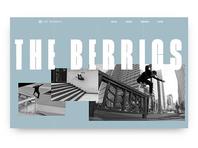 The Berrics - Interaction Experiment ui ux user experience user-interface animation user interface user-experience design website berrics skateboarding sports skate the berrics interaction invision studio