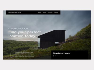 Stokkøya House - Header art direction architect architecture design website user-interface user interface user-experience ui ux user experience