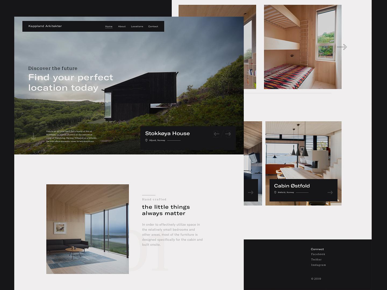 Stokkøya House - Home Page architecture website architect house travel layout typography photography web design architecture website ui ux