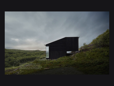 Stokkøya House - Animation website after effects interaction animation web design travel typography photography layout house architecture website architecture architect ui ux