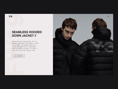 Y-3 Collection - Animation ux ui fashion website clothing grid animation grid layout typography adidas y3 fashion web design animation interaction after effects website