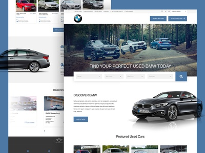 Rybrook Used BMW Website UI filter browse search form interface sale web vehicle homepage used car bmw ux ui desktop website car