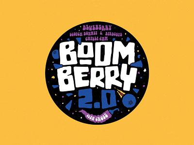 Boom Berry 2.0 illustrator vector illustration branding typography texture design brand logo jam jar chilli jam jam