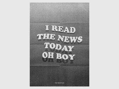 A Day In The Life beatles vector illustration design texture print song lyric cooper black typography song lyrics lyrics poster music poster poster design john lennon i read the news today oh boy a day in the life the beatles poster