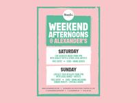 Weekend Afternoons @ Alexander's