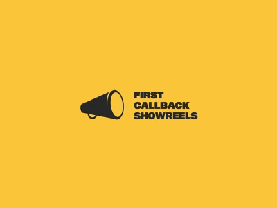 First Callback Showreels megaphone reel hollywood movie set extra illustration vector callback film cast casting logomark logo design logo movie showreel