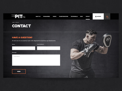 The Pit Gym - Contact page
