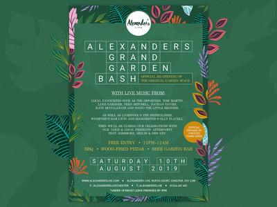 Alexander's Grand Garden Bash