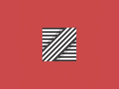 Z icon 36daysoftype type logomark red shadow depth texture stripes stripe lettering letter z typography logo brand design illustrator vector illustration