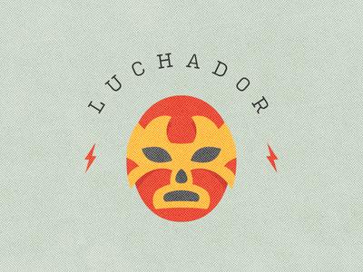 Luchador avatar avatars sticker character icon grit print texture half tone vector illustrator illustration lightening bolt mask mexican mexico wrestling wrestler lucha libre luchador