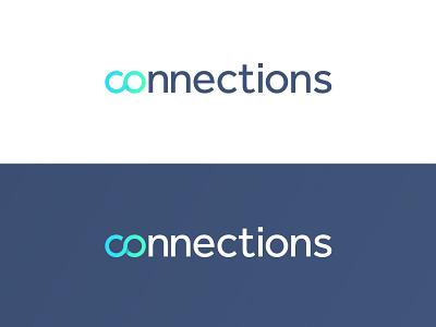 Connections branding newsletter internal logomark brand identity brand blend vector gradient infinity connections connection connect logo design logo